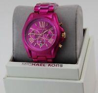 NEW AUTHENTIC MICHAEL KORS BRADSHAW PINK CHRONOGRAPH WOMEN'S MK6719 WATCH