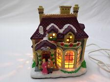 "Vintage Christmas Porcelain ""The Crystal Ballroom"" Lighted Glass Windows Org Box"