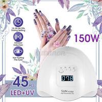150W Professional LED UV Nail Dryer Gel Polish Lamp Curing Manicure Machine ⇪