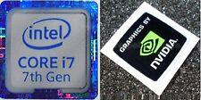 I7 7th generación Azul 18 mm x18mm NVidia Computadora Portátil PC Escritorio Metálico Pegatinas de Windows 7