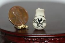 Dollhouse Miniature 1:12 Porcelain Pitcher w/Rooster Design in Cream