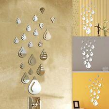 Regentropfen 3D Spiegel Wandtattoo Wanddeko Wanddekoration Zimmer Aufkleber