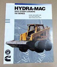 1989 Hydra Mac Skid Steer Loader 150 Series Cummins Single Fold Brochure Free Sh
