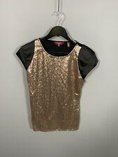 TED BAKER Top - Size 3 UK12 - Sequin - Great Condition - Women's