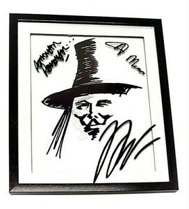 Collectible- V for Vendetta wall Art Framed Custom pictures w/ Vinyl signatures
