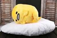 "Japan Gudetama Lazy Egg Motchiri 15"" Cute Stuffed Pillow Cushion Plush Toy Lying"