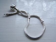EUROPEAN CHILD'S SNAKE CHAIN SNAP CLASP BRACELET FITS BEADS FREE GIFT BOX