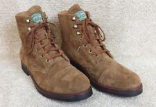 Polo Ralph Lauren Enville Brown Khaki Suede Cap Toe Boots, US Men's 10 D
