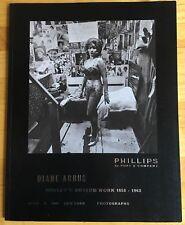 DIANE ARBUS rare Hubert's Museum Work 1958-63 Cancelled Auction Catalogue
