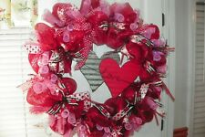 """VALENTINE LOVE"" DECO MESH WREATH"
