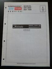 Original Service Manual    ITT Graetz  HIFI 9660 HST 7500