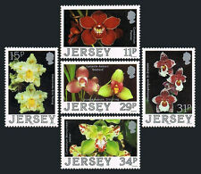 Jersey 442-446, MNH. Flowers. Hybrids, Eric Young Orchid Foundation, 1988