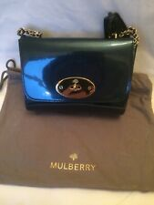 MULBERRY LILY METALLIC LEATHER MIDNIGHT BLUE BAG. BRAND NEW WITH TAGS,WRAPPING S