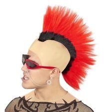 ROTE PUNKER PERÜCKE Karneval Fasching Rocker Irokese Punkerin Kostüm Party 02106