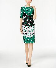 NWT Anne Klein Dot-Print Scuba Sheath Dress, Size 4,  $139