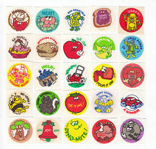 Lot of 25 Vtg Trend Matte Scratch & Sniff Stickers Space Corn Soap Skunk Spice