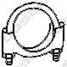 Pezzo di bloccaggio, impianto di Scarico Bosal 250-258
