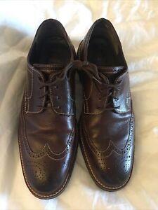 Johnston Murphy J&M 1850 Men's Shoes Wingtip Brown Leather Sz 10M