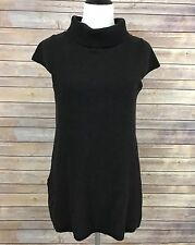 Ibex Women's Sz Large L Chocolate Brown Merino Wool Tunic Sweater Dress