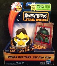 Angry Birds Star Wars Power Battlers HANS SOLO Yellow Bird NEW! with Pig Target