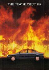Peugeot 405 Saloon 1988 UK Market Launch Foldout Sales Brochure GE GL GR SRi GTX