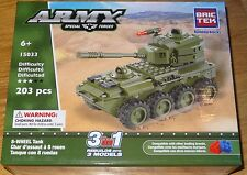 8-WHEEL Tank Army BricTek Building Construction Block Brick Toy 3 in 1 15033