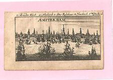 """Amsterdam - Kupferstich von Riegel – aus """"der Rheinstrom"""" - um 1690"""