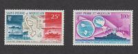 St Pierre et Miquelon sc #C35-36 MNH OG 1967 c35-c36