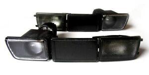 VW Golf Jetta MK3 3 Black Smoke Euro Front Bumper Turn Signal Fog Lights+Covers