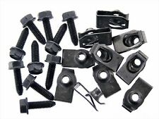 Body Bolts & U-Nuts For Kia- M6-1.0mm x 20mm Long- 10mm Hex- Qty.10 ea.- #134