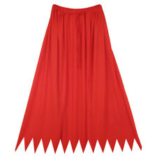 "32"" Red Cape ~ HALLOWEEN SUPERHERO, DEVIL, VAMPIRE, KING COSTUME SAWTOOTH CAPE"