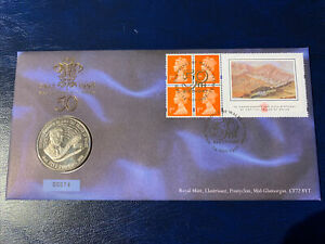 1998 BU £5 Coin Cover. HRH The Prince of Wales.