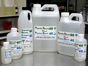60/40 BLEND VG PG VEGETABLE GLYCERIN & PROPYLENE GLYCOL USP KOSHER FOOD GRADE