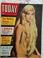 TODAY MAGAZINE 1964 JULY 11,GINA LOLLOBRIGIDA COVER,ROLLING STONES,*NEAR MINT*