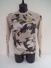 T - SHIRT WILLIAMS COLORE BEIGE MILITARE, TG M