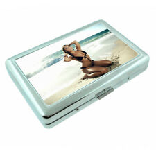 Bali Pin Up Girls D15 Silver Metal Cigarette Case RFID Protection Wallet