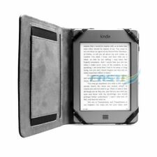 PREMIUM BLACK PU LEATHER AMAZON KINDLE TOUCH/4 WiFi CASE COVER WALLET - HANDGRIP