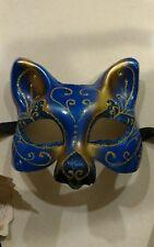 Hand Painted Veneziana Mask Masquerade Ball Party Cat Theatre mardi gras Italy