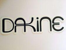 "Dakine, Maker of Ski Clothing & Ski Bags, Sticker, Black, 6"" x 1-3/4"""