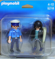 Playmobil Blister 9218 Duo-Pack Polizist Langfinger Dieb Einbrecher mit Sack NEU