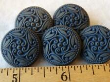 New listing Beautiful Vintage Blue Lacy Flower Buttons