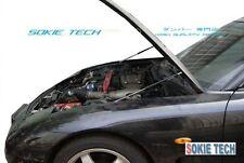 White Strut Lift Hood Shock Stainless Damper for 93-97 Mazda RX-7 FD RX7 FD3S