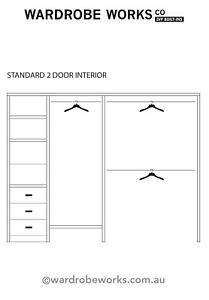 Built-in WARDROBE INTERIOR Insert **made to measure** DIY any Width Up to 2400