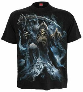 Spiral Direct Ghost Reaper Short Sleeve T shirt, Black Size M Halloween Goth