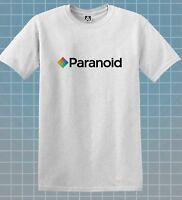 Paranoid T-shirt Camera Film Parody Crazy Joke Tee Indie Retro Logo Novelty Top