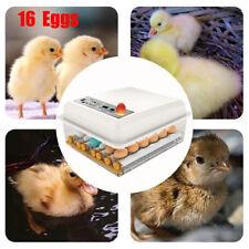 16 Digital Egg Incubator Chicken Automatic Hatch Machine Temperature Control EU
