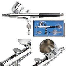 Doble acción Gravity Feed Aerógrafo Pistola Pulverización 0.3mm Kit de Pintura Artística Tatuaje Uña Herramienta