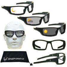TRANSITION Motorcycle Sunglasses Photochromic DAY NIGHT Wind Resistant Glasses