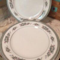 Vintage Noritake Bristol Fine China Dinner Plates Set Of Six