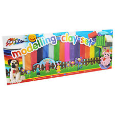 16 COLOURS OF NON TOXIC PLASTICINE IN THIS GRAFIX CLAY MODELLING CRAFT SET 3Yr+